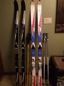 Pair of downhill skis
