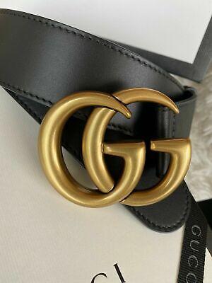 Gucci Shiny double G buckle belt 110cm