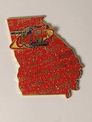 Coca-Cola Coke World of Coca-Cola Atlanta State of Georgia Sparkle Lapel Pin