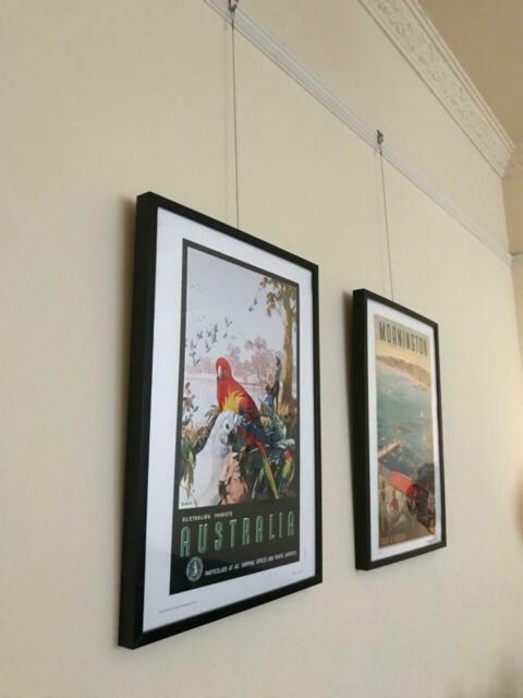 Set Of Vintage Australia Posters In Black Ikea Ribba Frames Picture