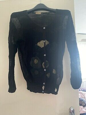 John Galliano 100 Percent Silk & lace Top  Size L With Mesh