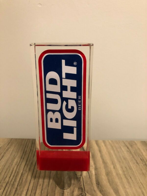"6"" Bud Light Beer Budweiser Brewing Lucite Tap Handle"