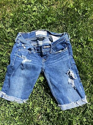 abercrombie kids girls 7/8 Distressed Shorts