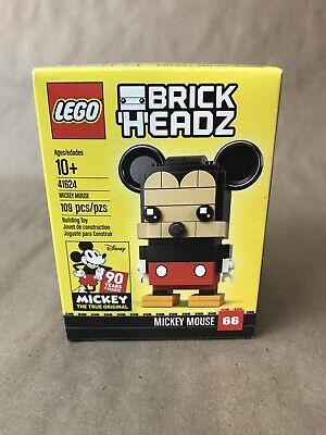 NEW LEGO 41624 Brick Headz Mickey Mouse Disney Retired #66 109pcs