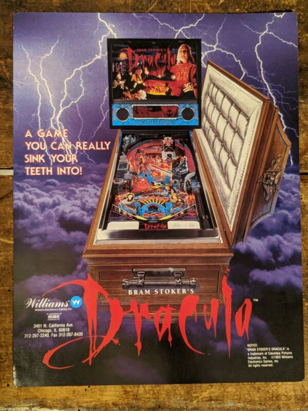 Williams Dracula Pinball Advertising Flyer 1993