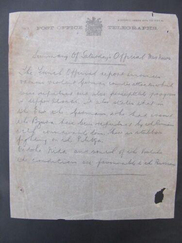 1914 WW1 Telegraph Bulletin Dec.6 Alsace Russia Vistula German Attacks f1-12