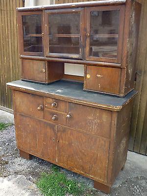 alter antiker küchenschrank schrank küche buffet  shabby chic landhaus loft deko