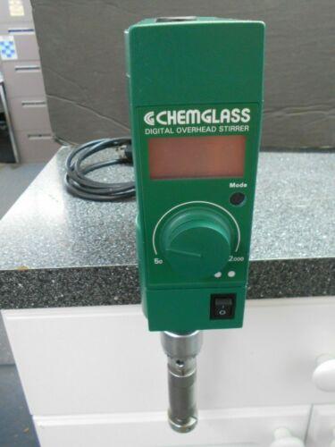 CHEMGLASS 50 TO 2000 RPM DIGITAL OVERHEAD STIRRER/MIXER