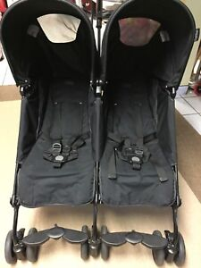 Poussette Pliko Mini Twin double de Peg Perego - Onyx
