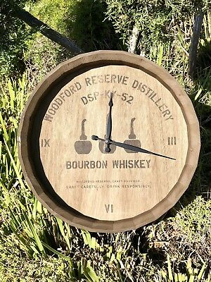 Woodford Reserve Distillery Bourbon Whiskey Beer Bar Wood Clock Sign Mirror
