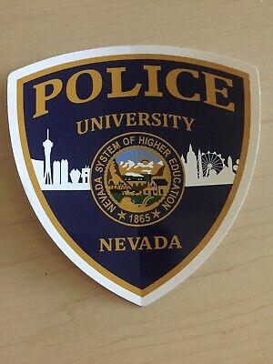 UNIVERSITY OF NEVADA LAS VEGAS POLICE Decal UNLV Running Rebels las vegas (Running Las Vegas Strip)