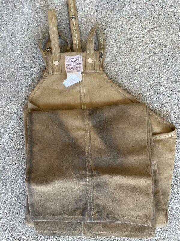 FILSON Tin Cloth Hunting Chaps TAN Size Reg - Style 22 READ
