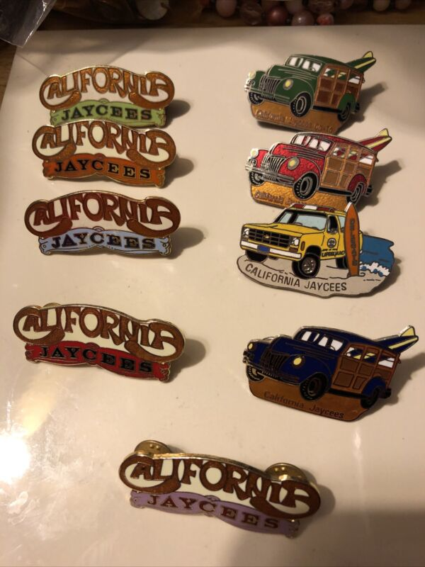 Lot of 9 Jaycee Vintage California Jaycee's Pins
