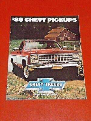 NOS GM 1980 Chevrolet Pickup Truck C K dealership showroom color sales brochure