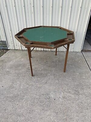 Vintage Antique Poker Table Foldable And Portable