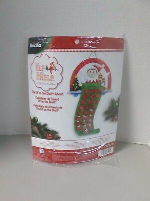 """Bucilla """"THE ELF ON A SHELF"""" #86507 Felt Christmas Advent Calendar Kit NEW"""