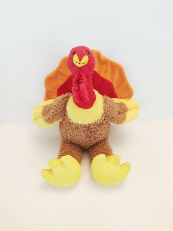 "Build-A-Bear Thanksgiving Gobble 12"" Inch Turkey Plush Stuffed Animal Festive"