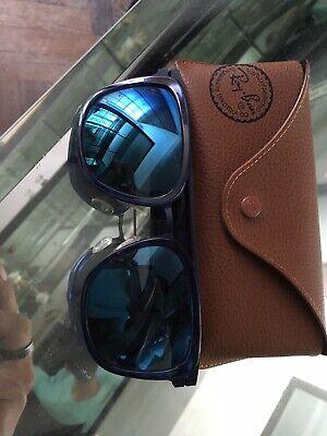 Ray Ban RB4165 Justin Wayfarer Sunglasses - Black And Blue. New!!!