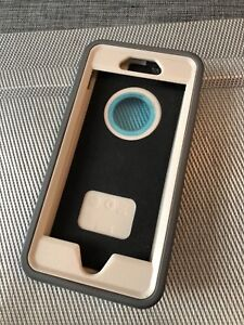 Grey and white Otter Box for iPhone 5,6