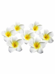 100PCS Plumeria Hawaiian Foam Frangipani Flower For Wedding Party Home Decor