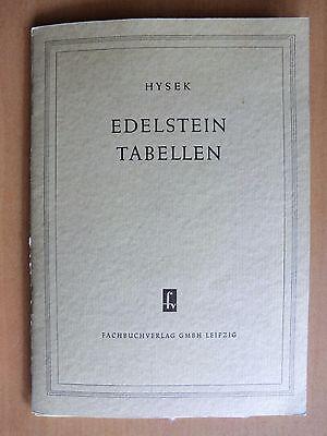 DDR Fachbuch Hysek Edelstein-Tabellen Echte Steine Imitationen Härte Brechung