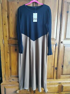 Zara Black A-line Dress Size XL BNWT