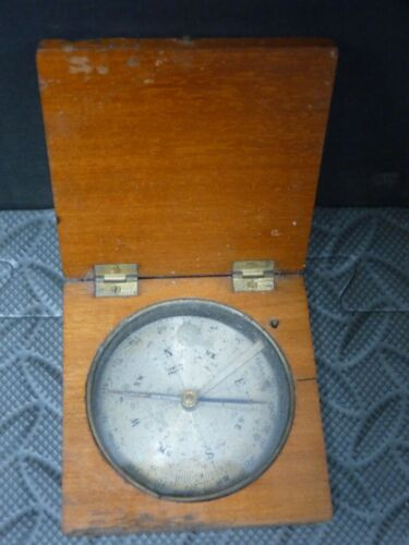 Antique Compass Wood Case France