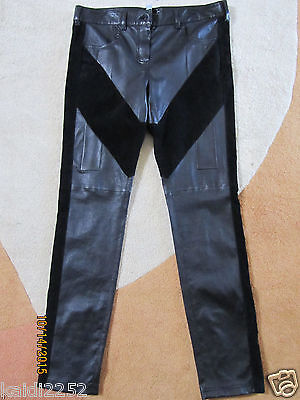 GIVENCHY Black Leather Ankle Zip Skinny Pants FR Size 42 US 8-10 ~NWT~ $2990