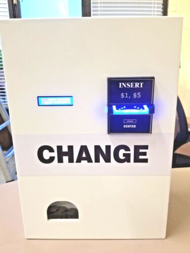 BRAND NEW IN THE BOX DOLLAR BILL CHANGE MACHINE COIN DISPENSER $1 AND $5 BILLS