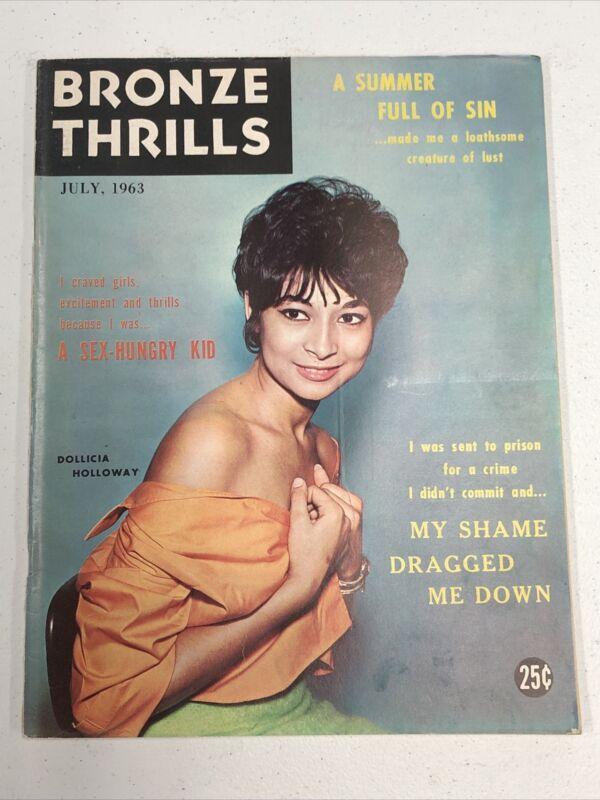 Bronze Thrills Magazine July 1963 Very Rare