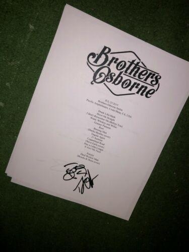 Osborne Brothers Signed setlist reproduction