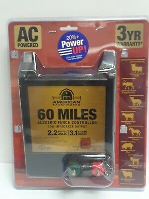 American Farmworks 60-mile Ac Powered Low Impedance Charger Eac60m-afw