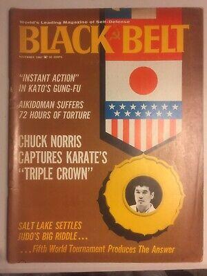 BLACK BELT Nov 67 *RARE* BRUCE LEE KATO JEET KUNE DO KUNG FU KARATE MARTIAL ARTS