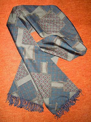 eleganter Schal - aparte Muster in harmonischen Farben - gedrehte Fransen TOP