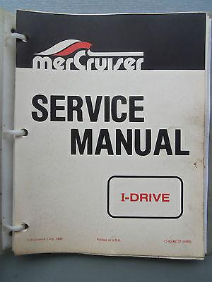 MERCURY MERCRUISER I-DRIVE GENUINE FACTORY MANUAL 1980'S