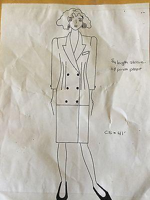 Vintage 90s Pop Era Fashion Couture Dress Pattern 674~Macys Clothing Line NY