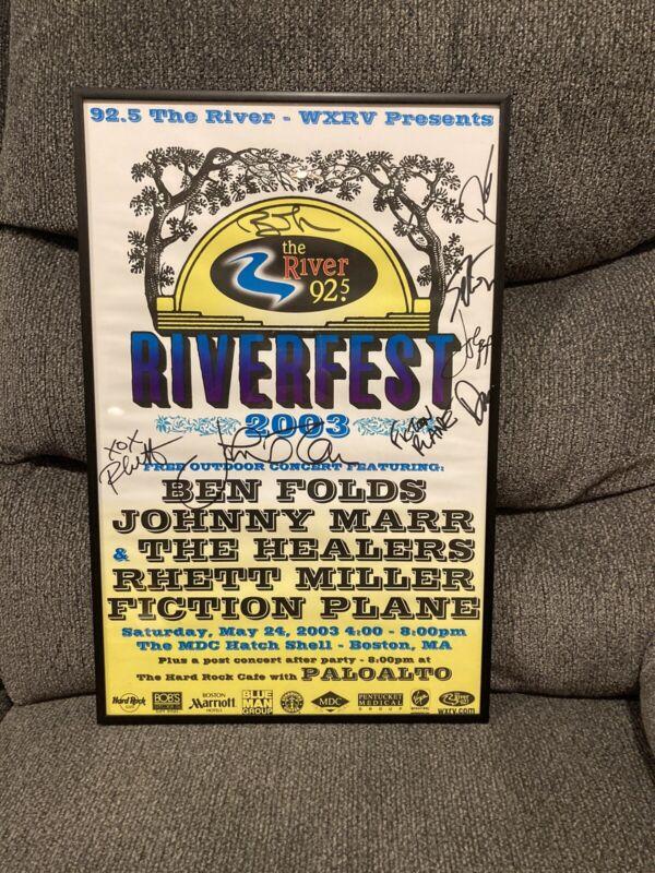 Ben Folds, Johnny Marr the Smiths Vintage Concert Poster Autographed Framed