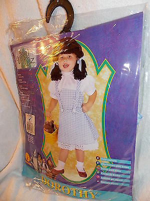 Wizard of Oz Dorothy Costume w/ Yarn Wig Toddler Size 2-4 for 1-2 Year Old  NEW - 1 Year Old Costume