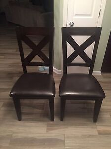 Solid wood chairs x 2
