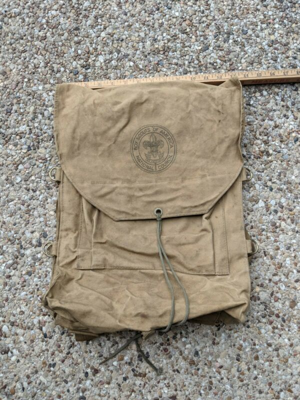 Vintage Boyscouts of America Haversack Hiking Backpack No 573 Canvas