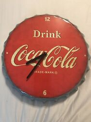 """Open Road Brands Vintage Style CocaCola Working Wall Clock 11""""x11"""""""