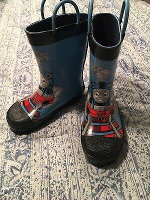 "Thomas the Train Rain Boots ""Full Steam Ahead!"" WESTERN CHIEF kids size 9 EUC"