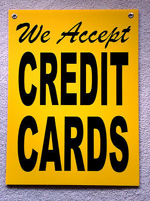 We Accept Credit Cards Coroplast Window Sign 18 X 24  25 Off 3 Or More