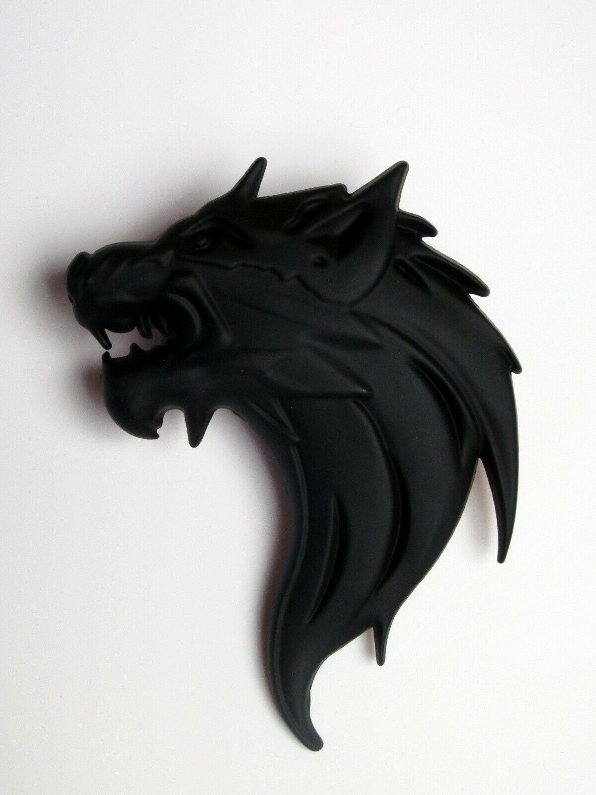 3D Metall Wolf Wolfkopf Chrom Emblem Badge K/ühlergrill Grill PKW Auto Silber