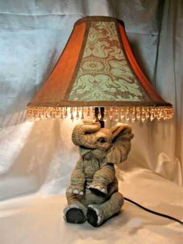 Elephant Table Lamp with Elegant Lamp Shade