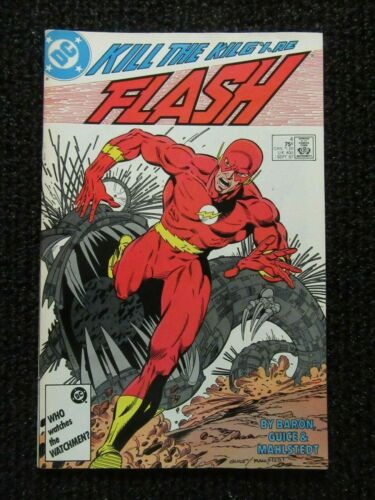 The Flash #4  Sept 1987  Very Nice!!  Flat Glossy Copy!!  See Pics!!