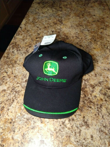 John Deere Licensed Competition Mesh Black Hat Cap - LP66989 New with tags