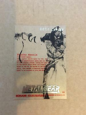 Metal Gear Solid Trading Cards