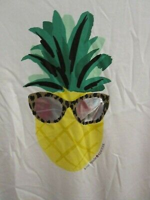 Kate Spade Pineapple Shades Tee in Broome Street Fresh White - Size XL - NWT