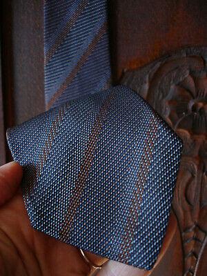 Vintage early GUCCI silk necktie brown / gray / blue diagonal stripe 50's - 60's